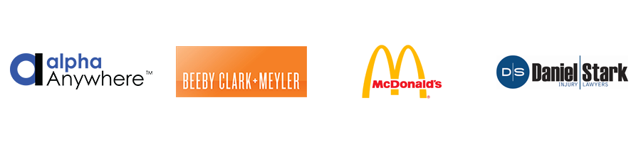 McDonalds, Daniel Stark Injuury Lawyers, Beeby Clark-Meyler, Alpha Anywhere