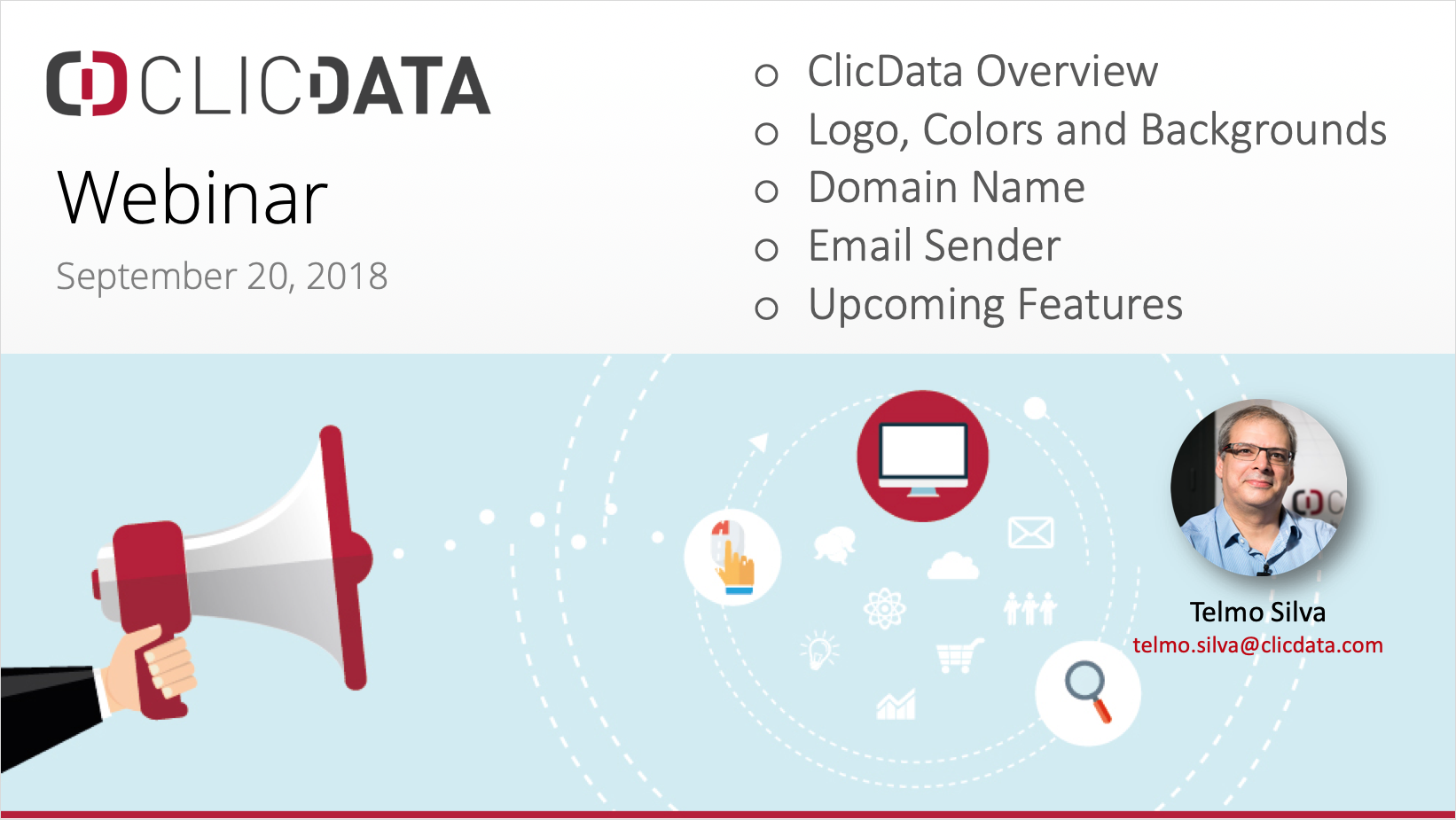Learn how to remove ClicData from your dashboards, emails, alerts and URL with white label features