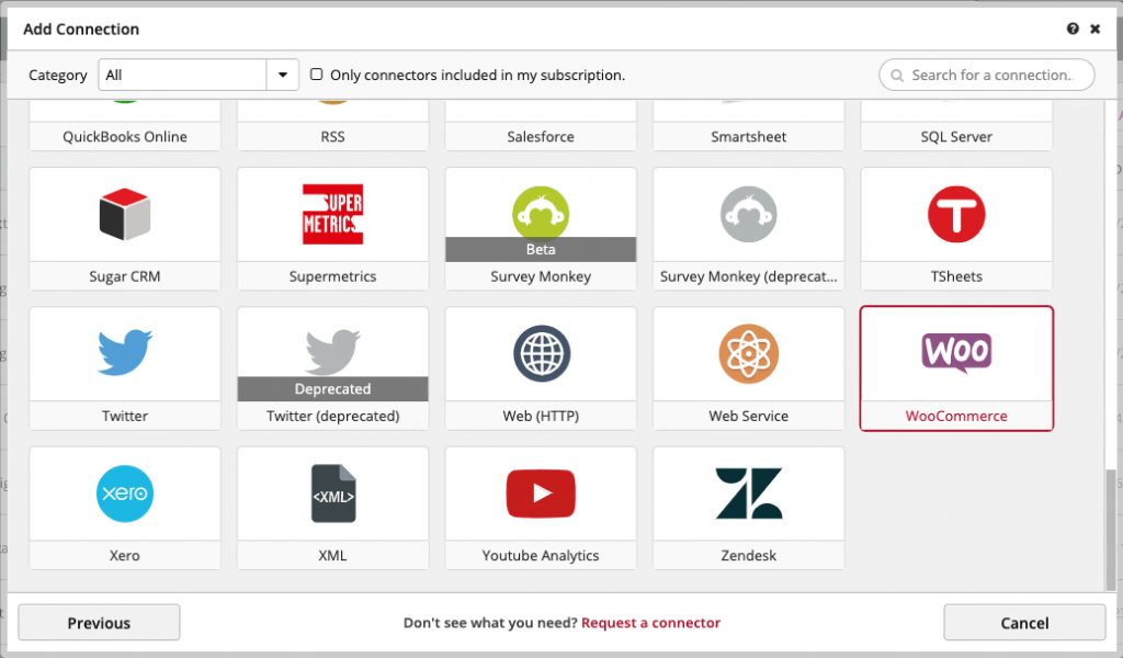 Connection Woocommerce Clicdata
