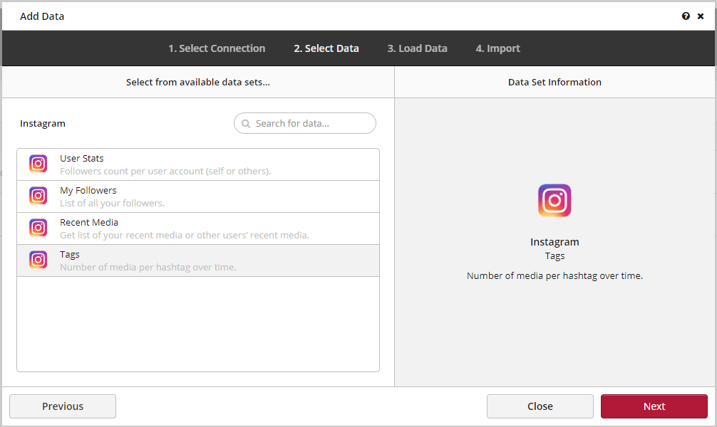 Connecting Instagram Clicdata