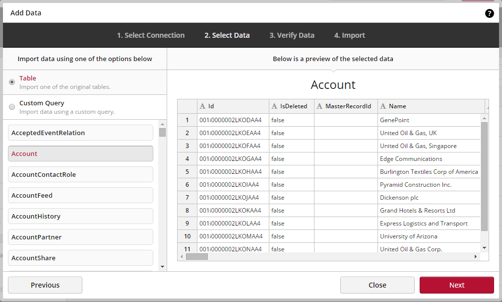 Connecting Salesforce Clicdata