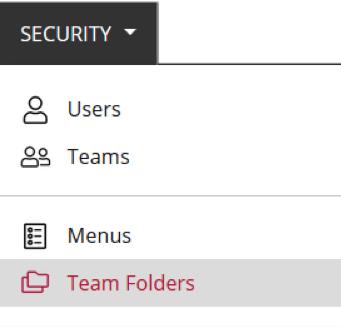 Main Team Folder Centralized Management