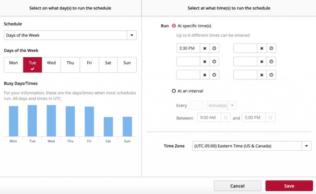 Data Refresh Schedule Clicdata