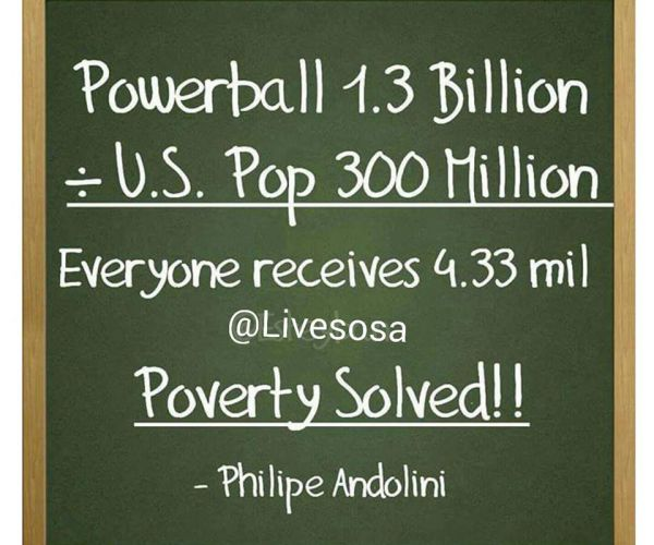 Powerball Revenue Poverty Solved