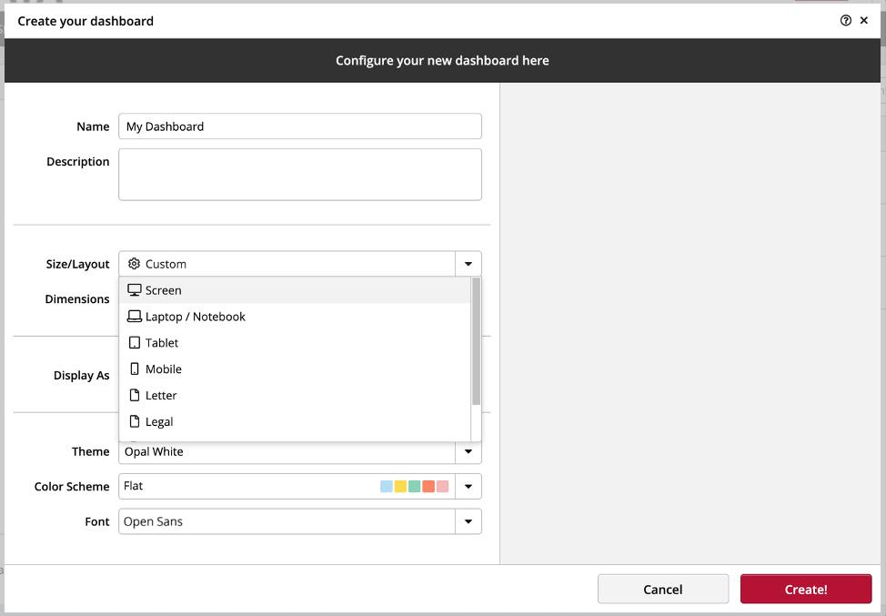 Dashboard Formats Clicdata
