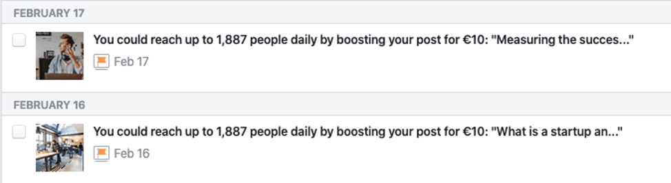 Facebook Ads Notifications