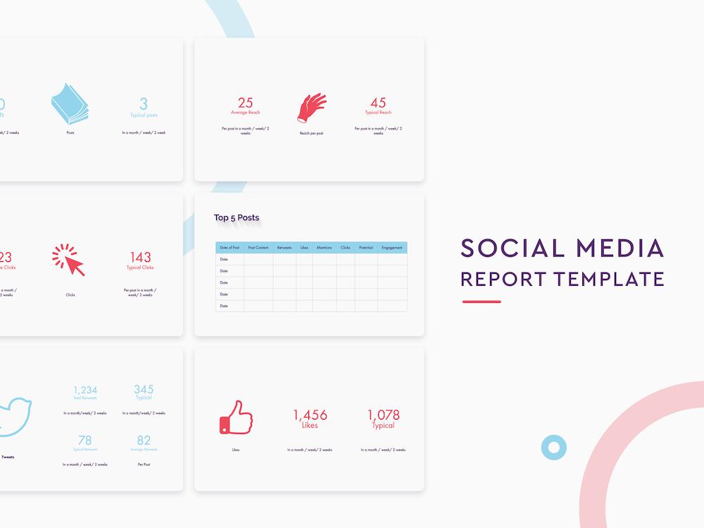 Social Media Report Template Slidebean