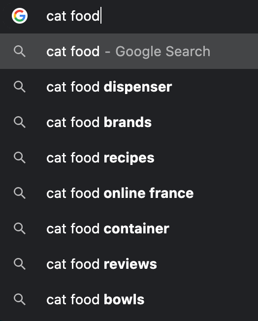 Google Suggested Search Queries