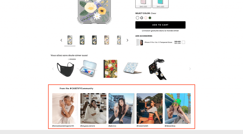 Landing Page Ecommerce Social Proof