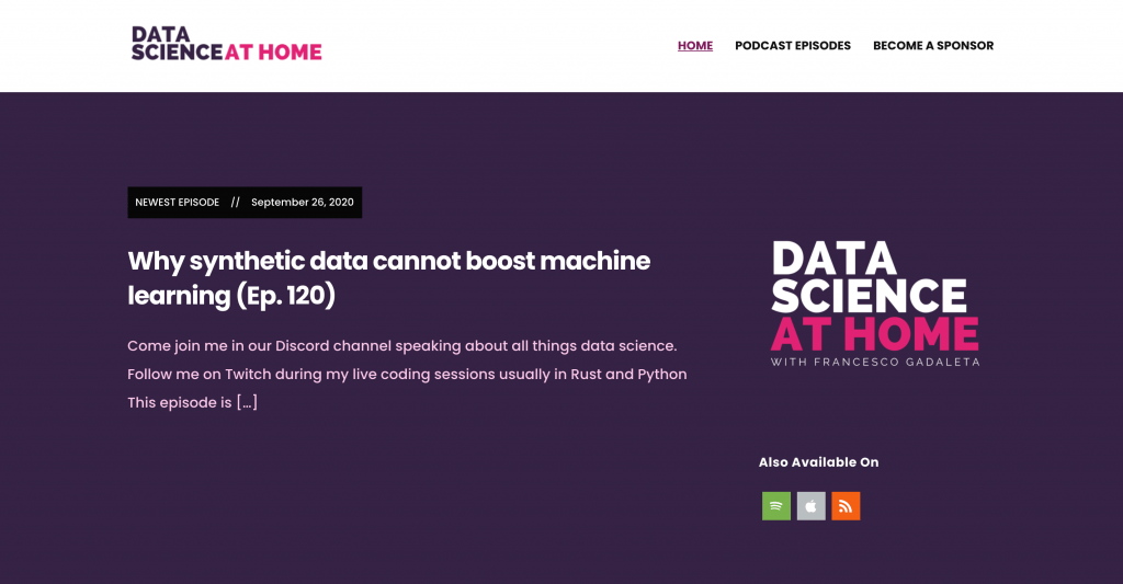 Data Science At Home Big Data Podcast