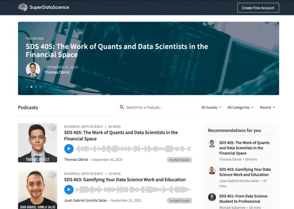 Super Data Science Big Data Podcast