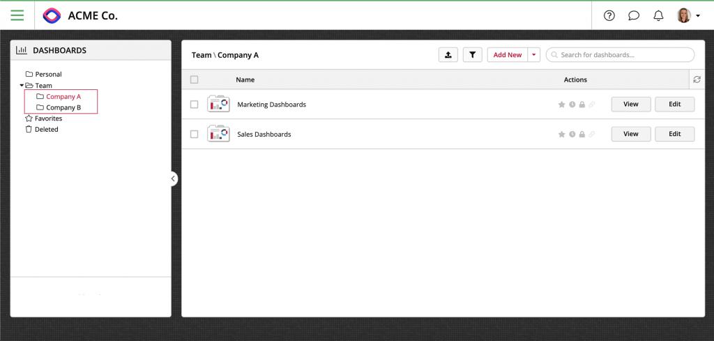 Team Folders Levels