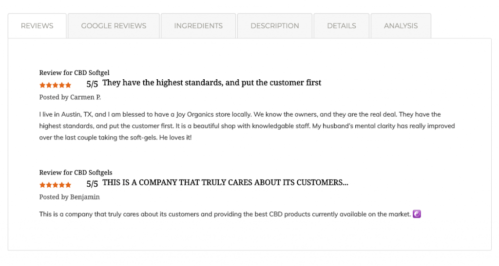 Customer Review Example