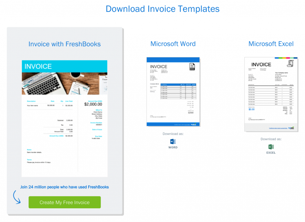 Freshbooks Invoice Templates