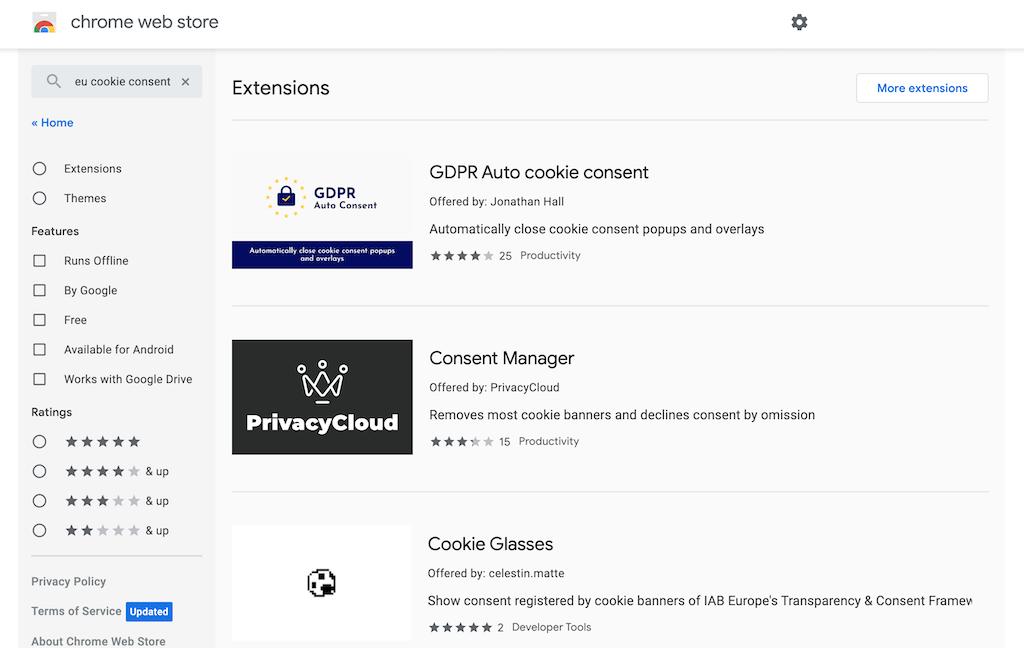 cookie consent blockers google