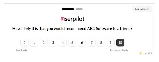 nps survey userpilot