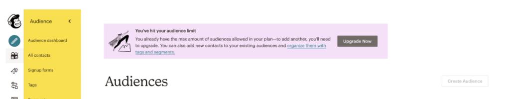 mailchimp audiences