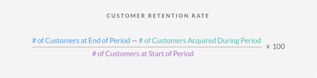 retention calculation formula